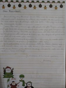 lettre au pere noel - alexandra